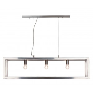 Suspension Open rectangle chrome 120 cm