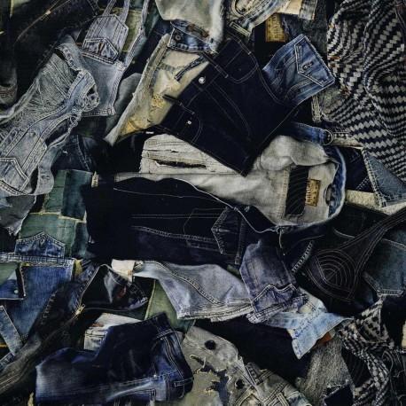 Tissu On The Road indigo Jean Paul Gaultier