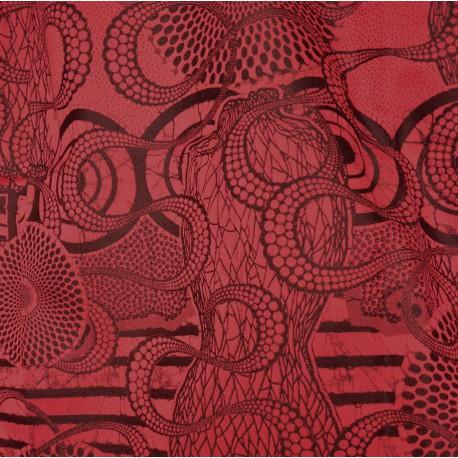 Tissu Metisse rouge Jean Paul Gaultier
