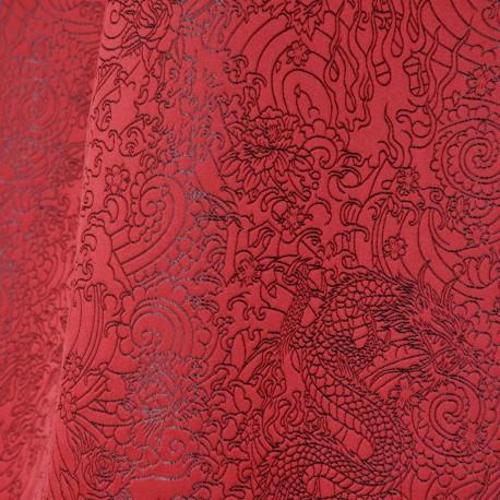 Tissu Skin rouge laque Jean Paul Gaultier
