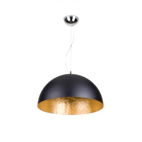 Suspension Cupula noir OPAQUE et doré Ø 50