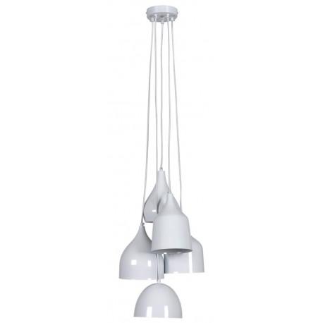 Suspension ronde design Vintage blanche Linea Verdace en métal blanc