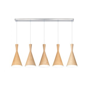 Suspension Clessidra Wood clair large, Linea Verdace
