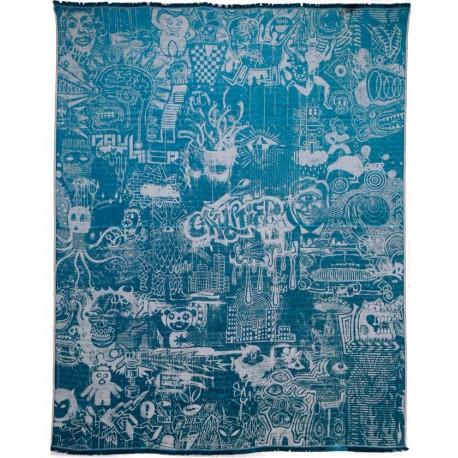 Plaid Expression bleu/écru Jean Paul Gaultier