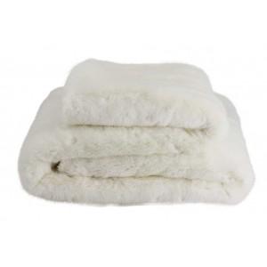 Plaid fausse fourrure de lapin haut de gamme Polaris blanc Now's Home
