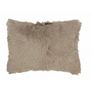 Coussin fourrure Caprino Taupe, Now's Home
