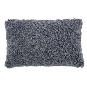 Coussin fourrure Montone gris bleu, Now's Home