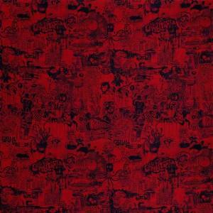 Tissu Street Rouge, Jean Paul Gaultier