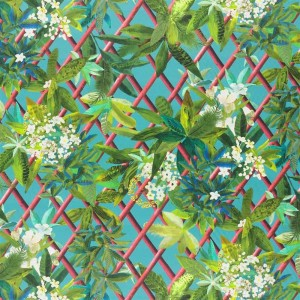 Tissu Canopy Turquoise, Christian Lacroix