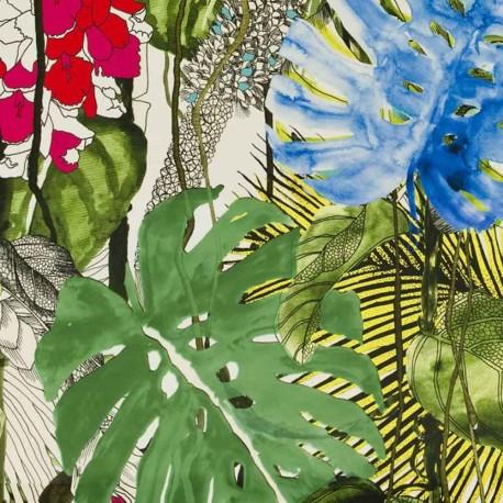 Tissu Jardin Exo'Chic Bougainvillier Christian Lacroix