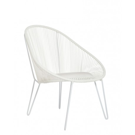 Fauteuil Palm Springs Blanc, Now's Home