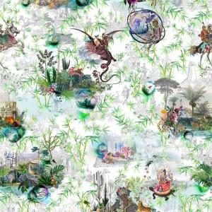 Tissu Reveries Vert Buis, Christian Lacroix