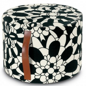 Pouf Vevey noir by Missoni Home