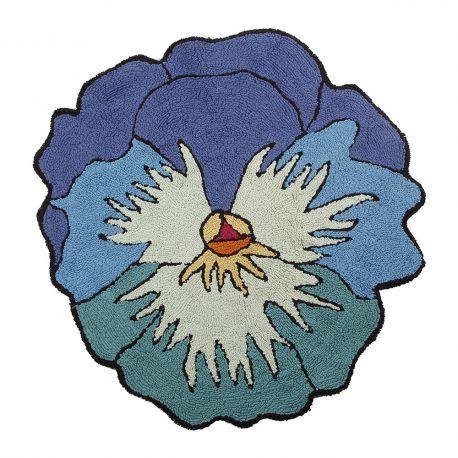Tapis de bain Parma bleu Missoni Home en forme de fleur en coton Ø 80