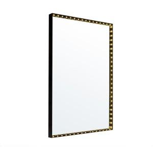Applique Miroir Square noire, Le Deun Luminaires