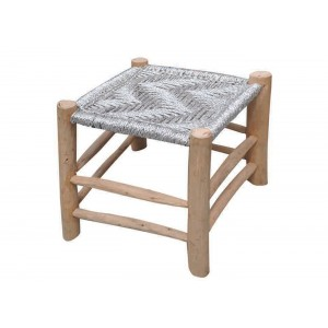 Tabouret Sahara argent, The Rug Republic