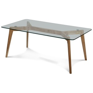 Table basse Greta rectangulaire en verre