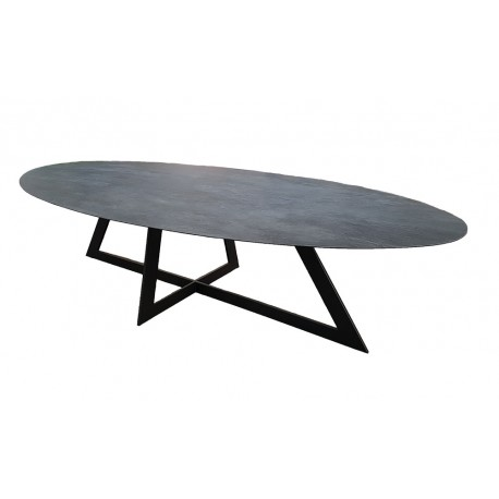 Table Céramique ovale Carat 15 finitions