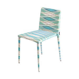 Chaise Miss Vulcano bleue, Missoni Home