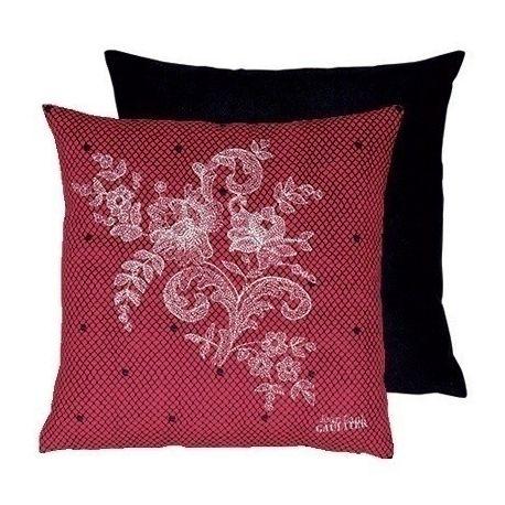 Coussin Discret rouge argent Jean Paul Gaultier