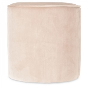 Pouf Elise velours naturel