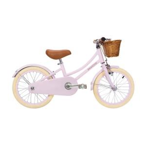 Vélo vintage 16' Rose avec panier en osier, Banwood