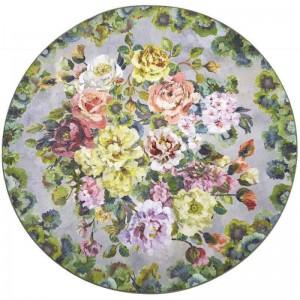 Tapis rond Grandiflora Rose Epice à fleurs, Designers Guild
