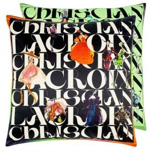 Coussin Parade Jais Christian Lacroix en coton et soie 55 cm