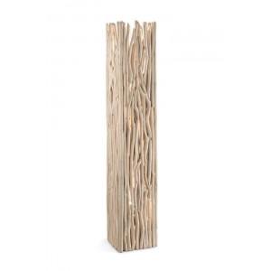Lampadaire Driftwood Bloc Ideal Lux en bois flotté naturel