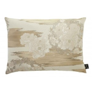 Coussin rectangulaire brodé fleuri Butterfly naturel K3 by Kenzo Takada