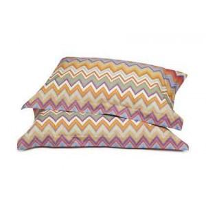 2 taies d'oreiller Andres 159 en coton motif zigzag Missoni Home