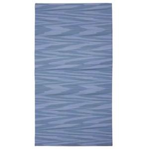 Drap plat Angie bleu en percale de coton au motif subtil bleu Missoni