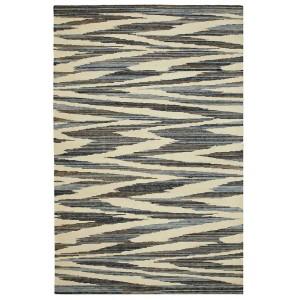 Tapis Argentina 221 en laine et coton beige brun et bleu Missoni Home