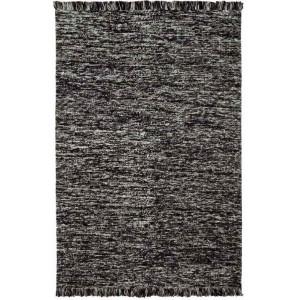 Tapis Walmer noir en laine et coton chiné frangé Missoni Home
