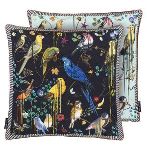 Coussin Birds Sinfonia Crepuscule oiseaux exotiques Christian Lacroix