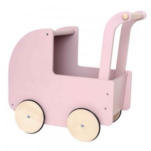 Landau pour poupée rose en bois, JaBaDaBaDo