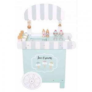 Boutique de crèmes glacées en bois sur roues, JaBaDaBaDo