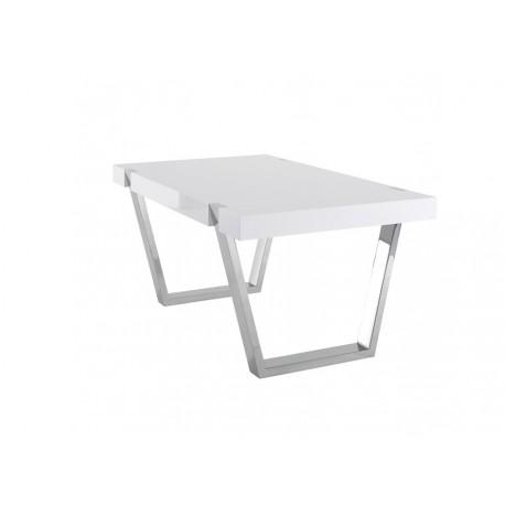 Table de salle à manger Artea laque blanche by Azea
