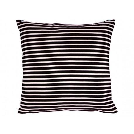 Coussin carré marinière à rayures noir et écru Jean Paul Gaultier 60x60 cm