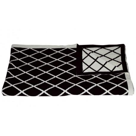 Plaid Suggestion blanc/noir Jean Paul Gaultier