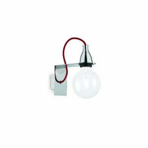 Applique Minimal chrome et rouge, Ideal Lux